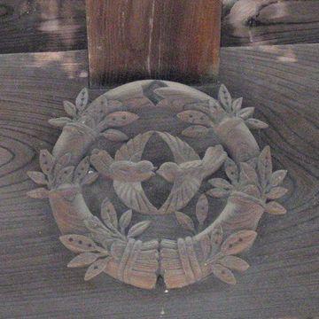 宇和島藩伊達家の木彫の家紋