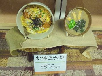『新潟駅』構内の食堂『ちゃぶぜん新潟店』のショーウィンドー