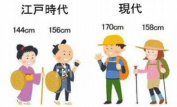 江戸期の人の体型