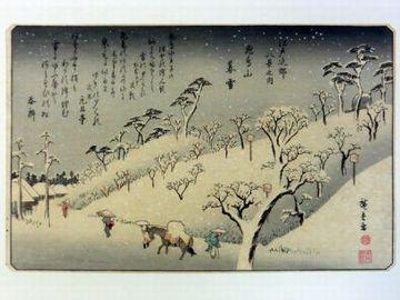 歌川広重『飛鳥山暮雪』