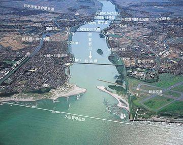 今の阿賀野川の河口