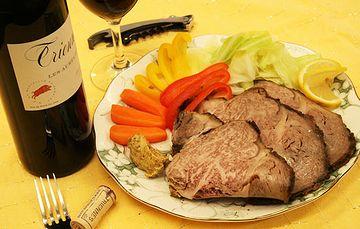 ワインとローストビーフ