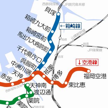 福岡市・地下鉄路線図