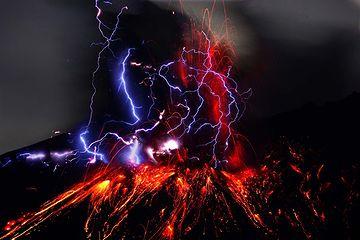 噴火の様子そのもの