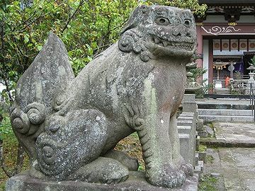 宇奈岐日女神社・狛犬