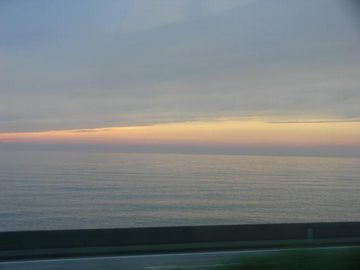 夕日の日本海