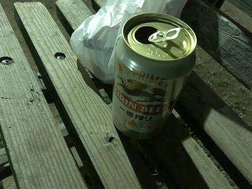 暑いときには、缶ビール