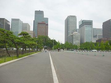 東京駅方面を振り返って撮った