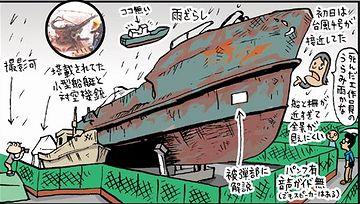 北朝鮮の工作船が、望遠鏡で覗くかも?