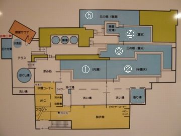 スギノイパレス「棚湯」平面図