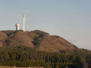 あ、風車がある