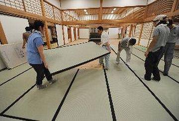 『佐賀城本丸歴史館』の畳替え