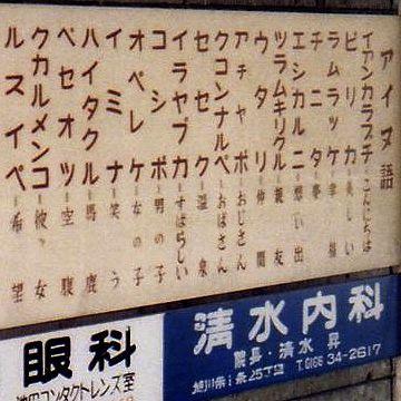 北海道とかの地名は、アイヌ語に漢字を当てたのが多いでしょ