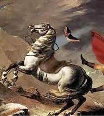 馬から落ちるナポレオン