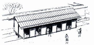 平城京(710年~784年)の厠の復原図