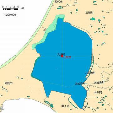 干拓前の八郎潟