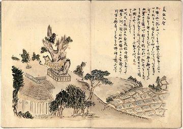 「菅江真澄遊覧記」自筆の挿絵