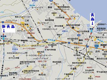 『新青森駅』とは、奥羽本線で一駅ですけどね