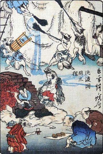 佐渡ヶ島に、団三郎狸の話が残ってますよ