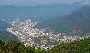 新見市。高梁川の流域に開けた町みたいです。