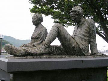 小説『津軽』の像記念館(北津軽郡中泊町)