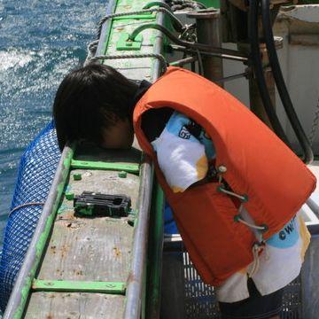 船酔いしそうなので、酔い止めが無いか聞かれました