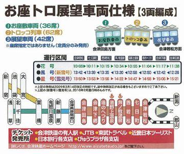 お座トロ展望列車2