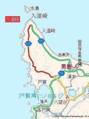 入道崎の地図