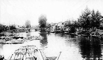 昔は、栗ノ木川という川だったんです