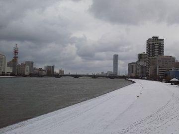 携帯で撮った新潟の冬景色