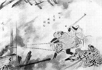 江戸時代の消防は、延焼を食い止めるための破壊消防が主でした