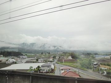 上毛高原駅を発車してすぐ
