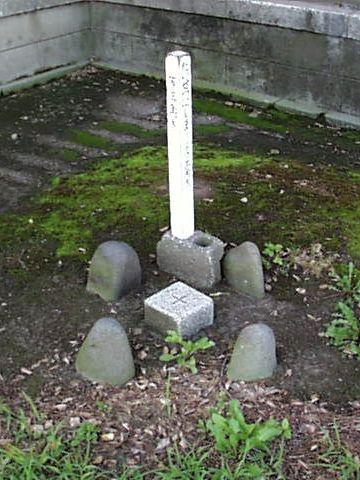 黒井神社にある綺麗な三角点