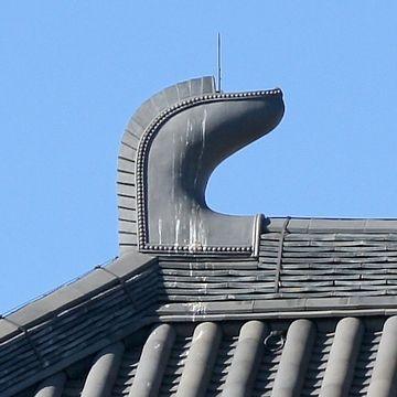 唐招提寺金堂(奈良市)の鴟尾