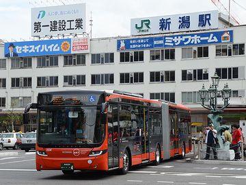新潟市では、9月5日から連節バス(BRT)の運行が始まりましたが、トラブル続きのようです