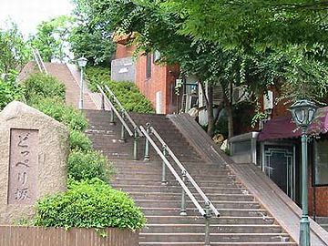 新潟市にある『どっぺり坂』。これ、砂丘の斜面なんです。