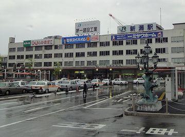 新潟駅前も、ご覧のとおり