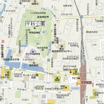 千秋公園位置図