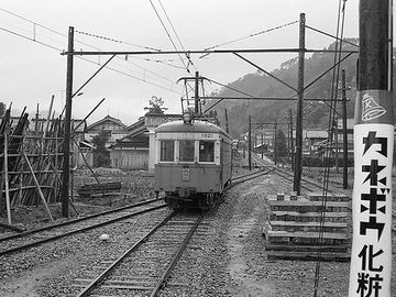山中線を走る『モハ1821』。これも、1960年代。