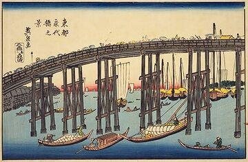 渓斎英泉『東都永代橋の図』