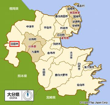 日田市の位置