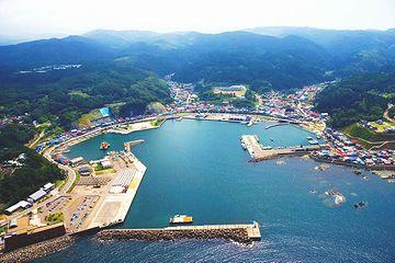 深浦港。本当にいい港ですよね