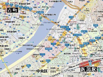 新潟駅まで、歩けば30分もかかっちゃう古町