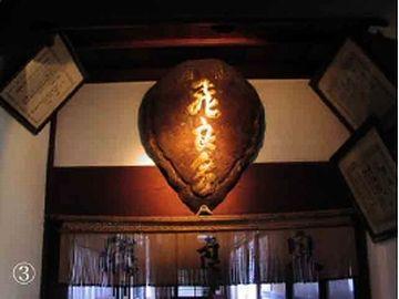 飛良泉本舗の玄関にあるアオウミガメの甲羅