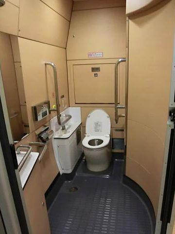 ここって、ほんとに列車のトイレなの?