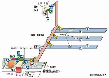 もともとの東北本線が『青い森鉄道』に変わったんだから、青森駅で一番メインの路線よ