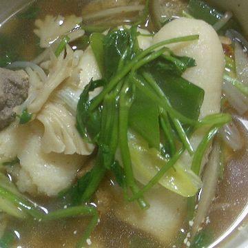 おネギにスープが染みて、美味しい