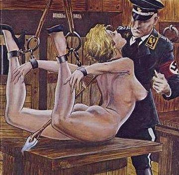 拷問される女スパイ。女子刑務所ものと並び、AVの1分野になってます。