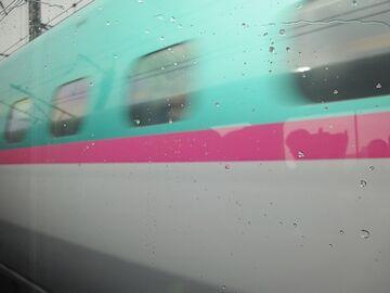 東北新幹線とすれ違い