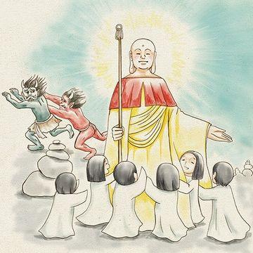 即座に地蔵菩薩さまに救われる
